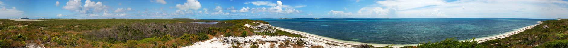360 degrees Grand Turk Royalty Free Stock Photography