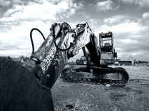 360 digger in a field rusty 2 Stock Photography