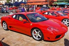 360 dzień Ferrari Modena rhd przedstawienie zdjęcie royalty free