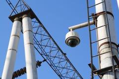 360-graad toezichtcamera's Stock Afbeeldingen