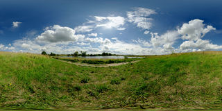 360 grader equirectangular panorama Royaltyfria Foton