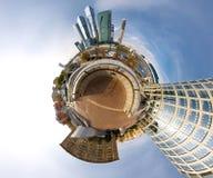 360 grados de panorama de la Moscú-ciudad Imagen de archivo libre de regalías