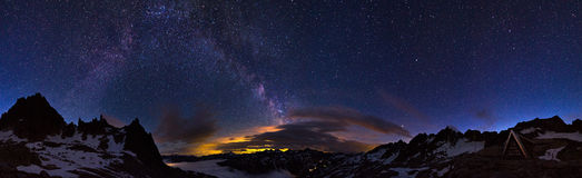 360 Milky way Stock Images