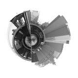 360 panorama- grad nyc Arkivbilder