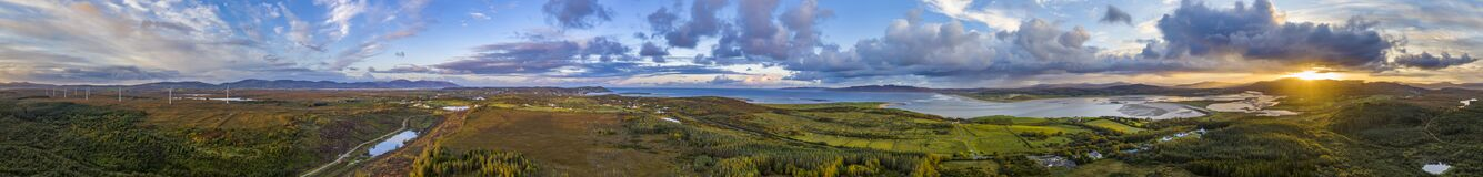 Free 360 Panorama Of Bonny Glen By Portnoo In County Donegal - Ireland Royalty Free Stock Photography - 199171827