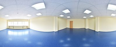 360 Panorama View In Modern Empty Apartment Interior, Degrees Seamless Panorama. Royalty Free Stock Photography