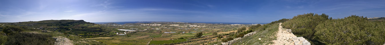 360� View of Malta from Fort Bingemma Royalty Free Stock Photography