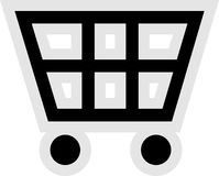 购物车图标购物 免版税库存照片