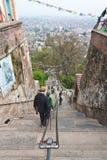 365个加德满都尼泊尔步骤swayambhunath 免版税库存图片
