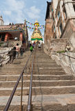 365 steps to Swayambhunath in Kathmandu, Nepal Stock Photos