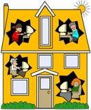 连网的房子 向量例证