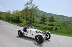 37 1928 bugatti byggde biltyp tappningwhite Royaltyfri Foto