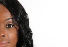 37 headshot piękna czarny kobieta Zdjęcie Royalty Free