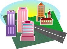 都市风景 向量例证