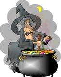 酿造巫婆 免版税库存照片
