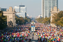 38. De Marathon 2011 van Berlijn Stock Fotografie