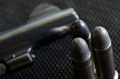 .38 spacial Pistolegewehrkugeln Lizenzfreie Stockbilder