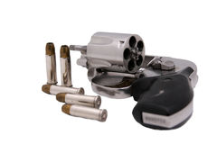 38 special. A 38 special revolver and bullets Royalty Free Stock Photography