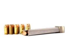 380弹药口径夹子手枪 免版税库存图片
