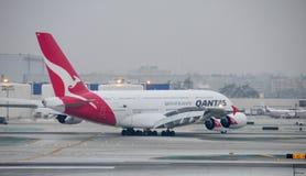 380 Airbus lotniskowy Angeles zawody międzynarodowe los Zdjęcia Stock