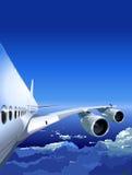 380 Airbus nieba wektor ilustracja wektor