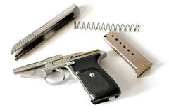 380 Handgun Parts Royalty Free Stock Photography
