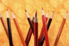 铅笔红色 库存图片