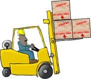 铲车运算符 库存照片