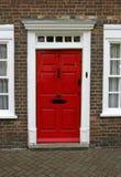 门外部英王乔治一世至三世时期房子 免版税库存图片