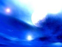 闪耀炫目天空 向量例证