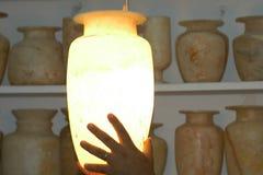 雪花石膏花瓶 库存照片