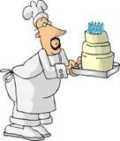 面包师蛋糕 库存例证