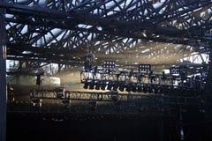 音乐会照明设备 免版税库存照片