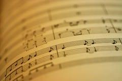 音乐纸张 免版税库存照片