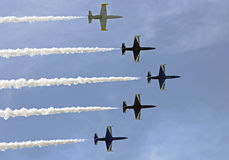 39升飞机培训 库存照片