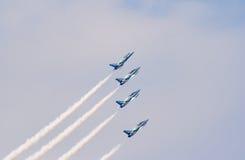 39架显示四喷气机l russ小组 免版税库存图片