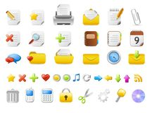 39 office icons. Simple office icon-set for website and print usage Stock Images