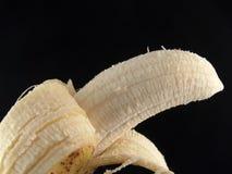 香蕉被剥皮 图库摄影