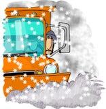 驱动器除雪机 库存例证