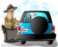 高速公路巡逻票文字 库存例证