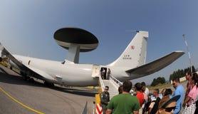 3a aicraft航空awacs e fest北约斯洛伐克 库存图片