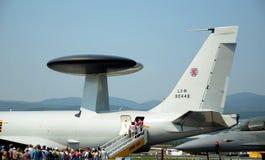 3a aicraft航空awacs e fest北约斯洛伐克 库存照片