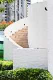 3D一部螺旋形楼梯的例证。 免版税库存图片