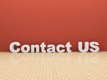 3d与我们联系空间 免版税图库摄影