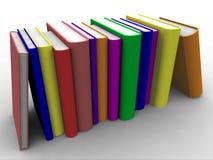 3d书堆积了 图库摄影