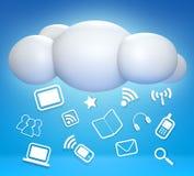 3D云彩和概念沟通 皇族释放例证