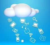3D云彩和概念沟通 库存例证