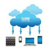 3d云彩计算的概念 免版税库存图片