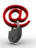 3d互联网挂锁符号 皇族释放例证