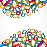 3d五颜六色的方形背景 库存照片